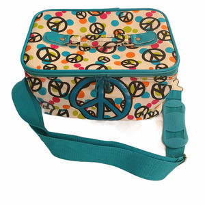 Unbranded womens girls lunchbox Peace strap 1110